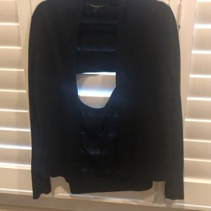 Bcbgmaxazria cardigan with partial open back